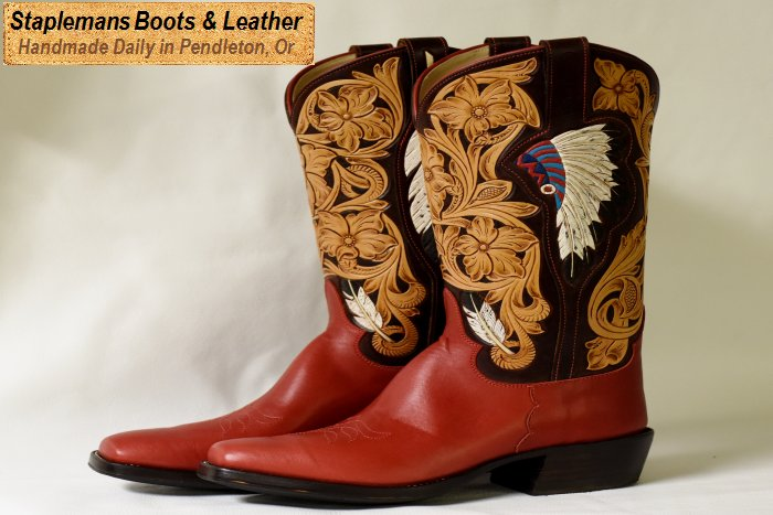 Handmade Custom Ostrich Leather Boots