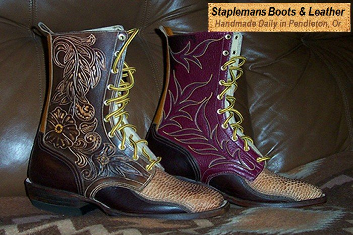Customer Designed Boots with Elephant and Exotic Lizard...